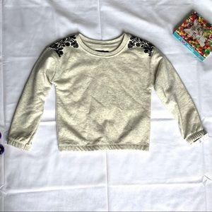 Joe's Jeans Girls Oatmeal & Black Sweatshirt